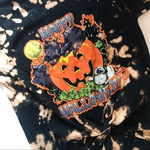Vintage Halloween tie dye tee
